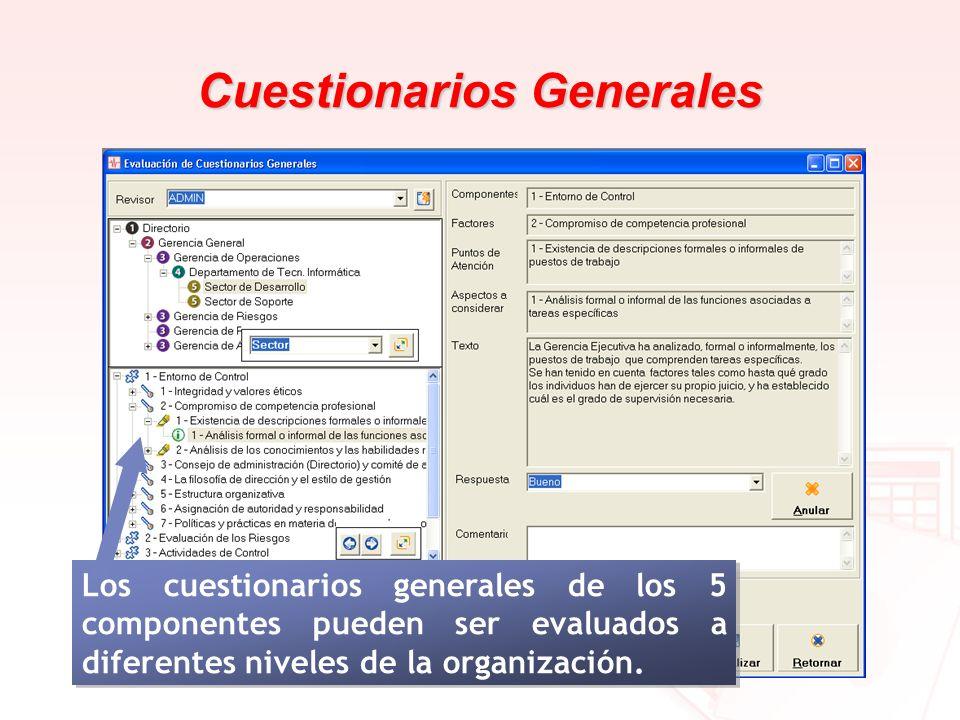 Cuestionarios Generales