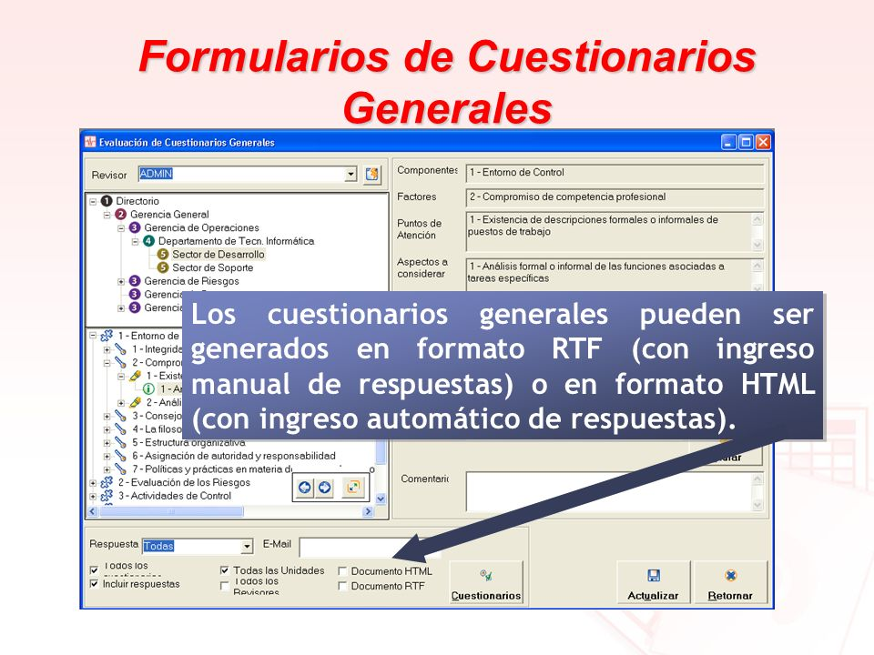 Formularios de Cuestionarios Generales