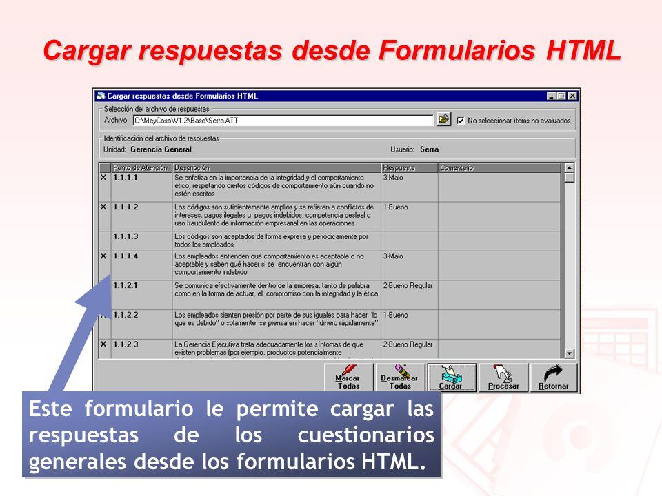 Cargar respuestas desde Formularios HTML