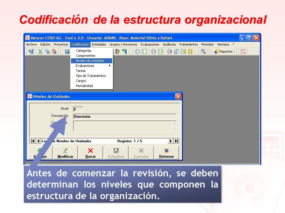 Codificación de la estructura organizacional