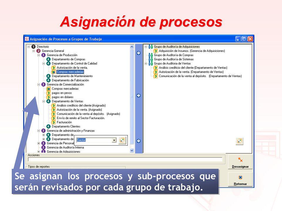 Asignación de procesos