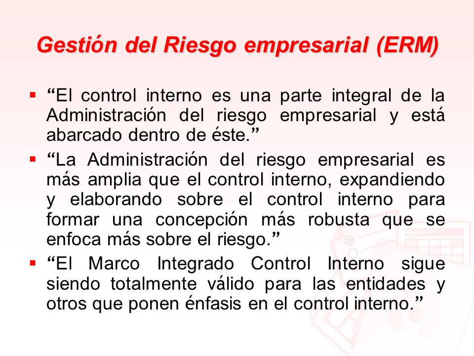 Gestión del Riesgo empresarial (ERM)