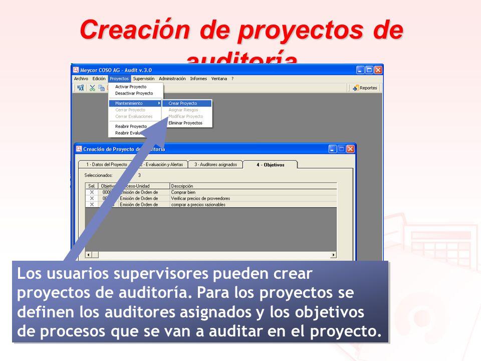 Creación de proyectos de auditoría