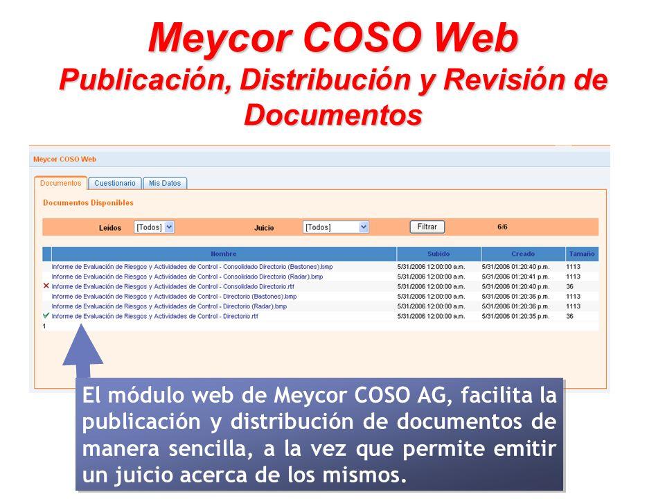 Meycor COSO Web Publicación, Distribución y Revisión de Documentos