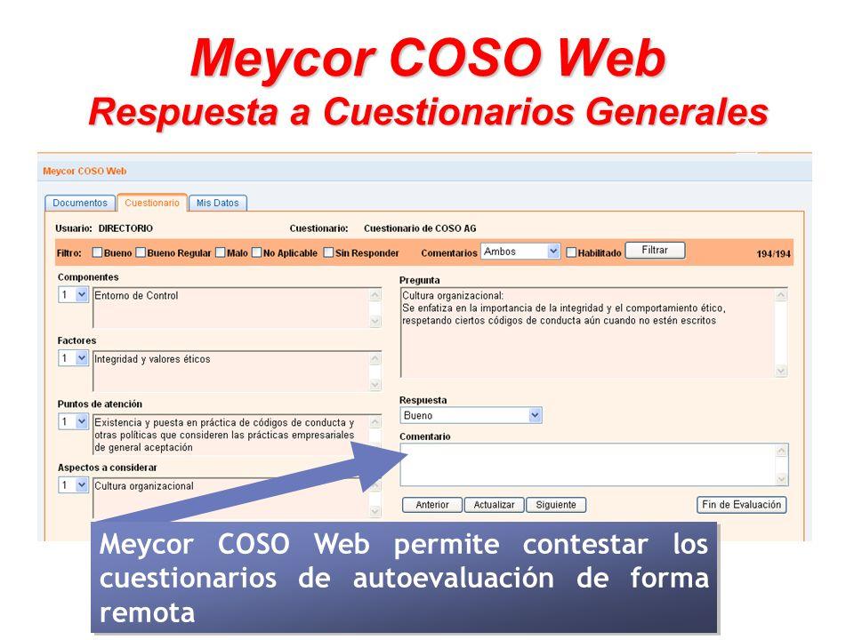 Meycor COSO Web Respuesta a Cuestionarios Generales