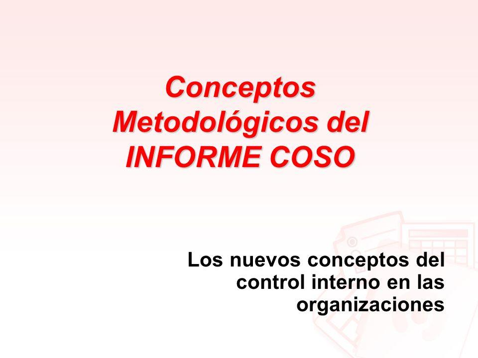 Conceptos Metodológicos del INFORME COSO