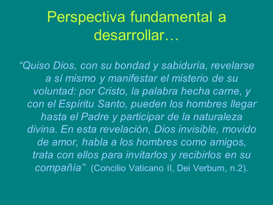 Perspectiva fundamental a desarrollar…