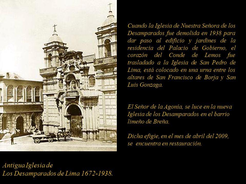 Los Desamparados de Lima 1672-1938.