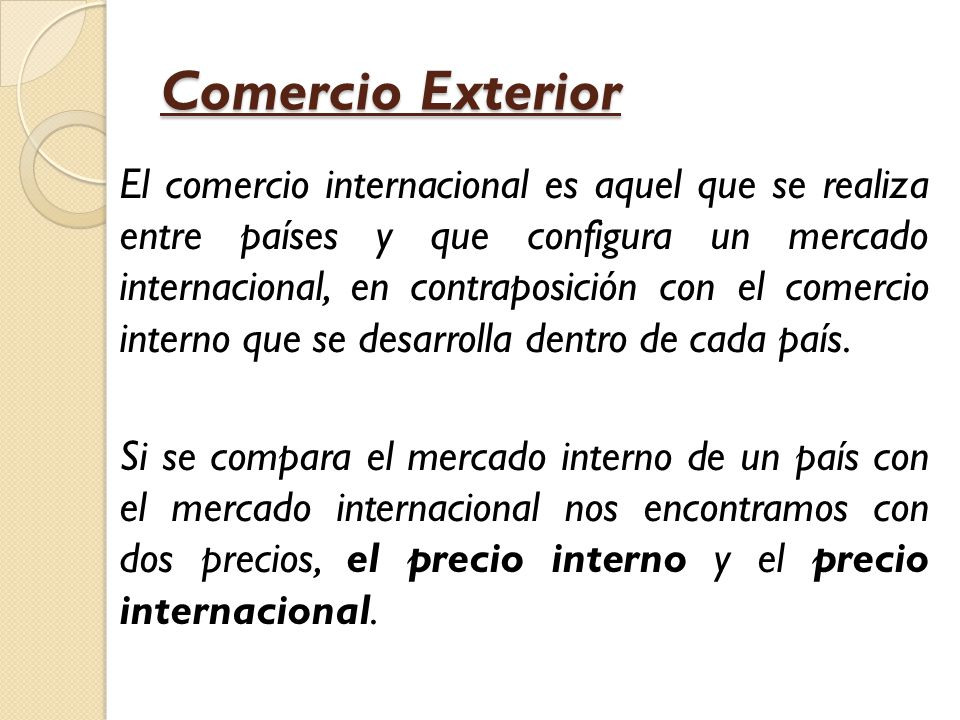comercio exterior macroeconom a ppt video online descargar