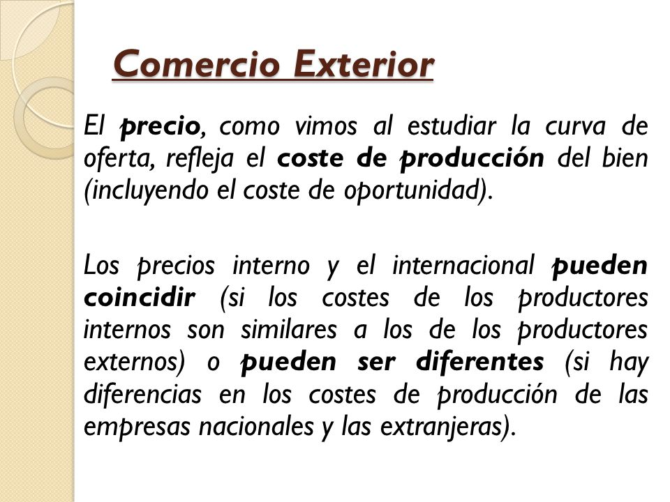 Comercio exterior macroeconom a ppt video online descargar for Que es el comercio interior