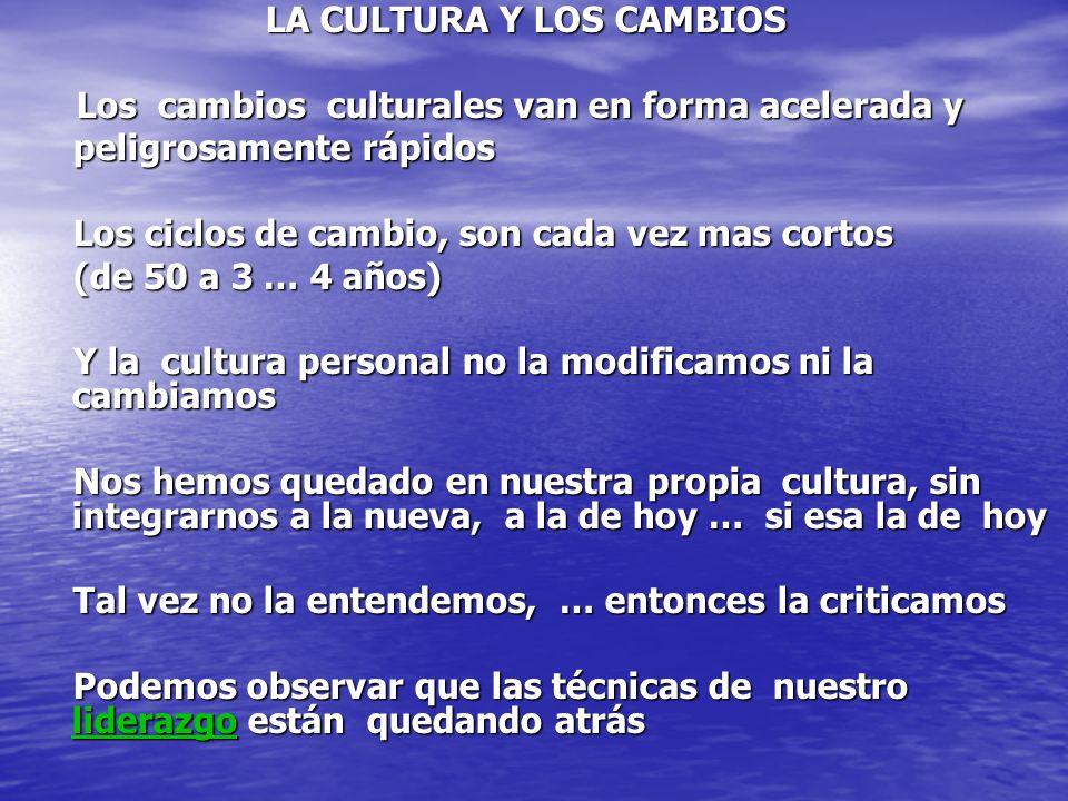 LA CULTURA Y LOS CAMBIOS