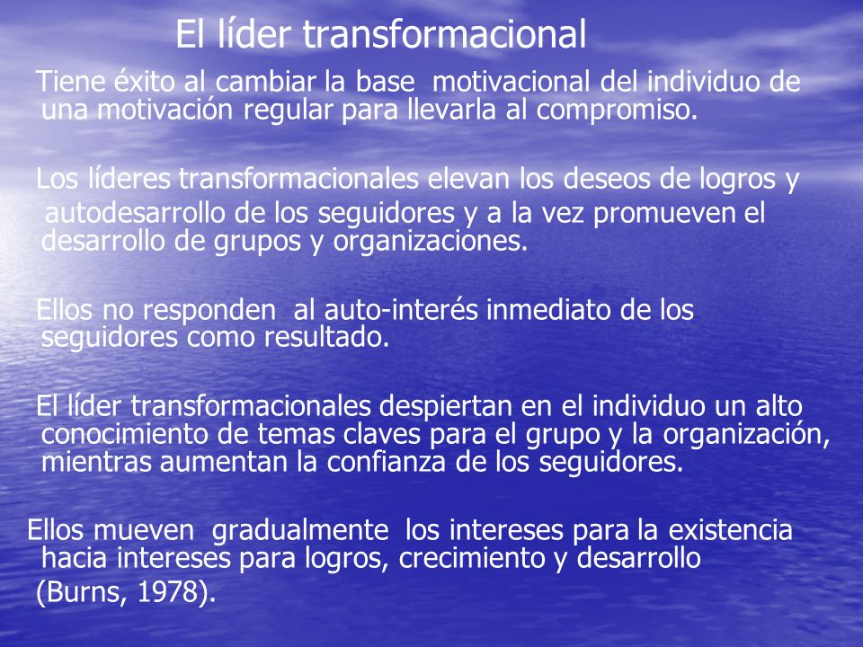 El líder transformacional