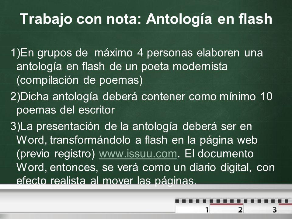 Trabajo con nota: Antología en flash