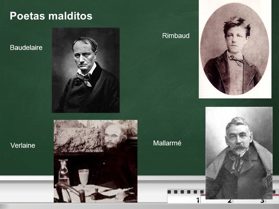 Poetas malditos Rimbaud Baudelaire Mallarmé Verlaine