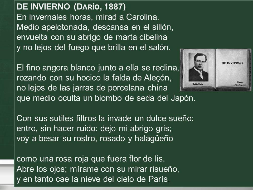DE INVIERNO (Darío, 1887)