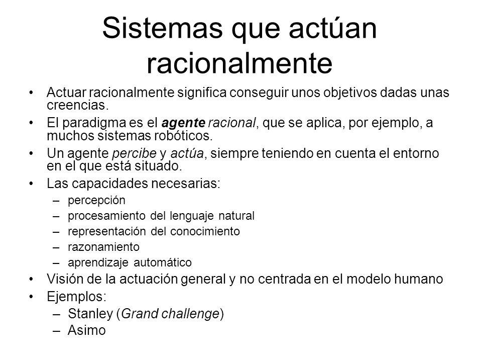 Sistemas que actúan racionalmente