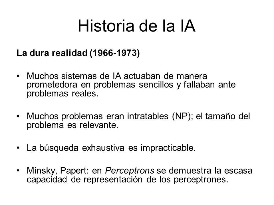 Historia de la IA La dura realidad (1966-1973)