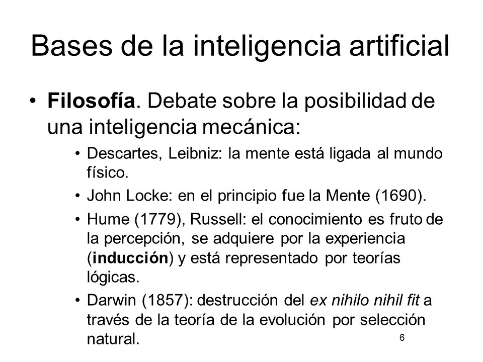 Bases de la inteligencia artificial