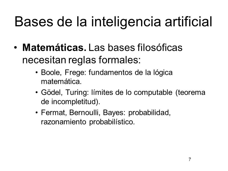 Bases de la inteligencia artificial