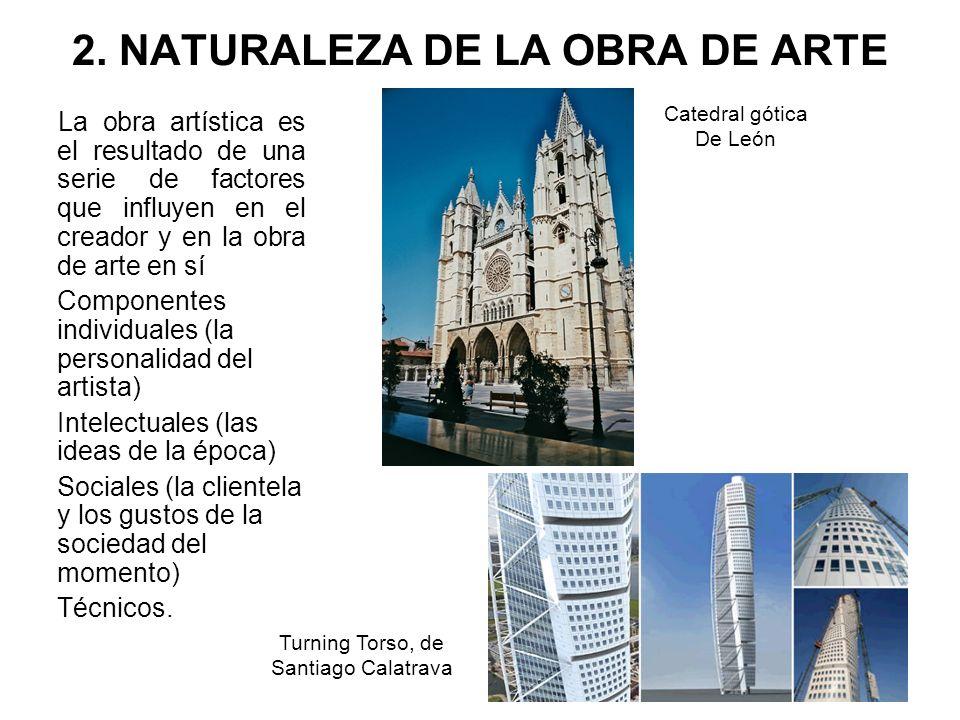 2. NATURALEZA DE LA OBRA DE ARTE