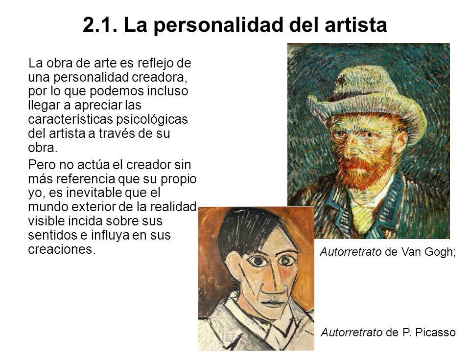 2.1. La personalidad del artista