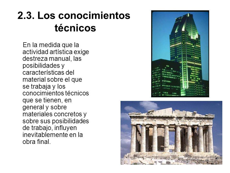 2.3. Los conocimientos técnicos