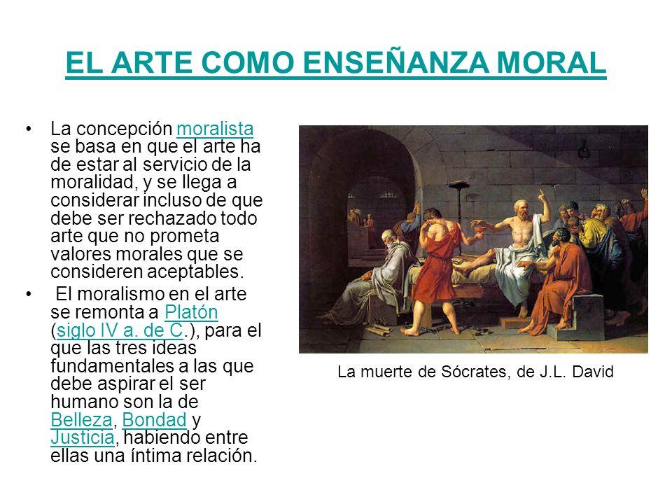 EL ARTE COMO ENSEÑANZA MORAL