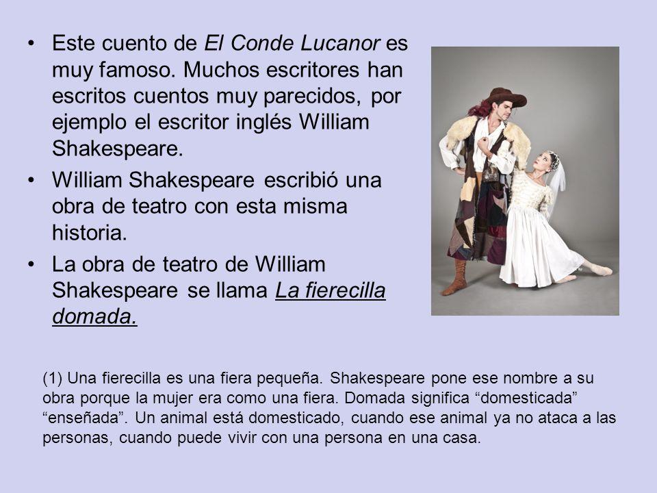 Este cuento de El Conde Lucanor es muy famoso