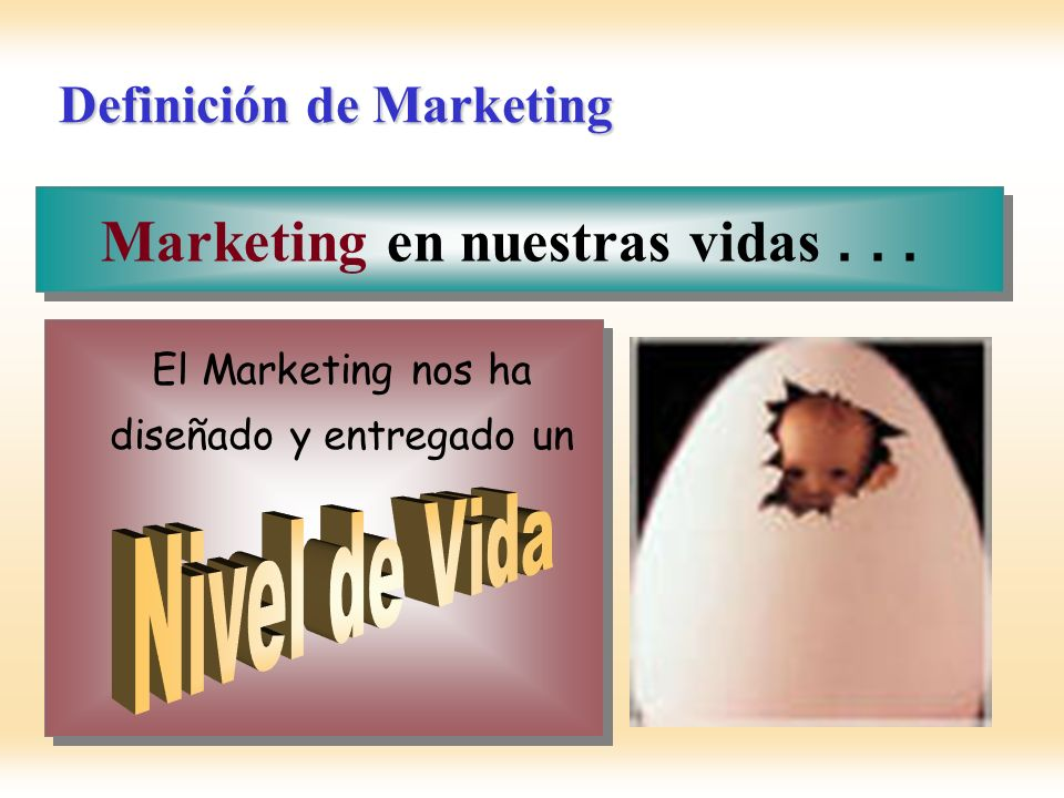 El Marketing nos ha diseñado y entregado un