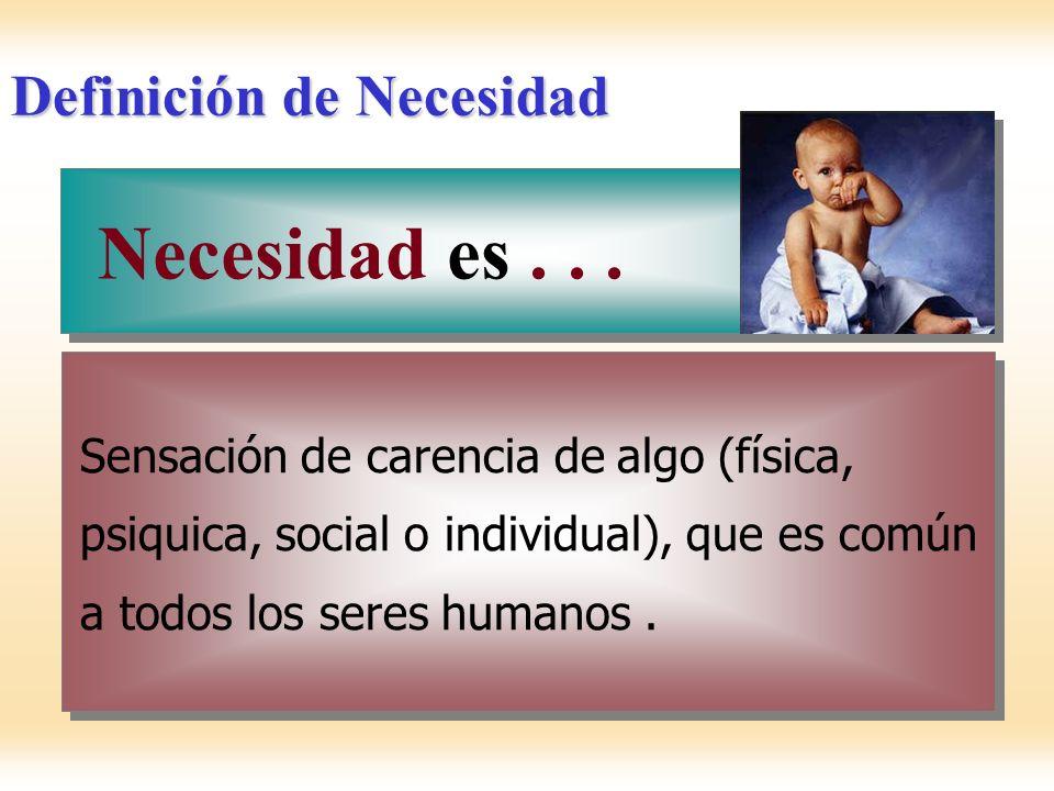 Definición de Necesidad