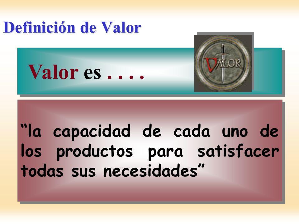 Valor es . . . . Definición de Valor