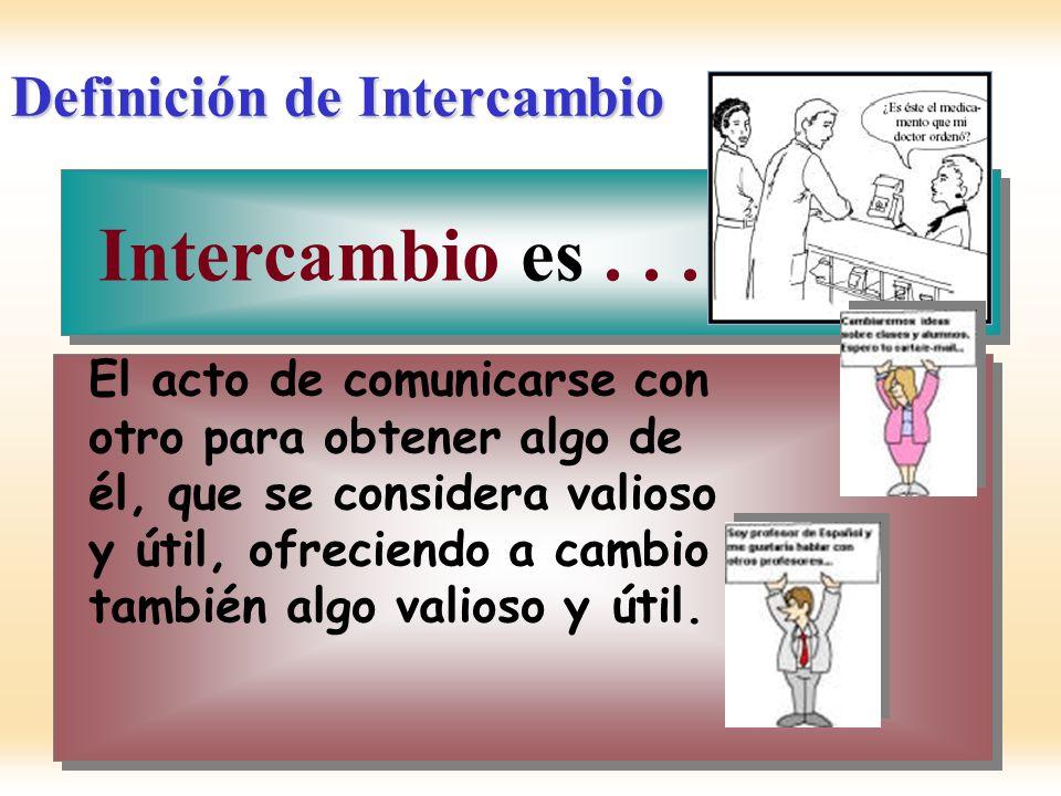 Definición de Intercambio