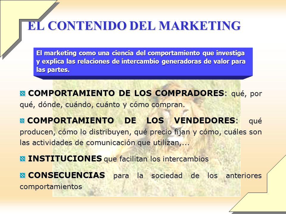 EL CONTENIDO DEL MARKETING