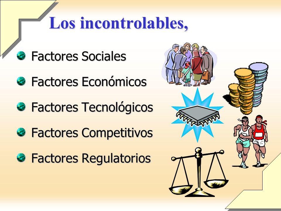 Los incontrolables, Factores Sociales Factores Económicos