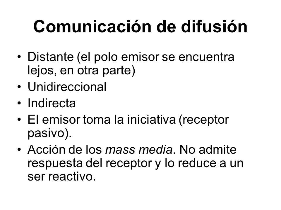 Comunicación de difusión