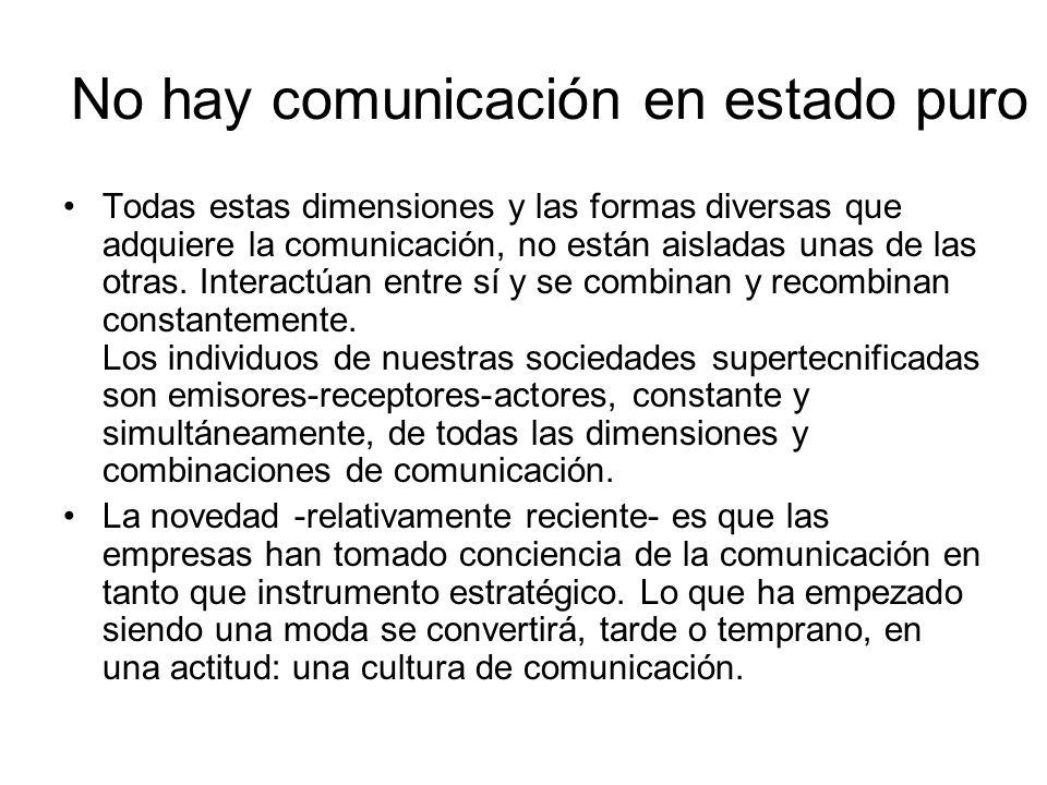 No hay comunicación en estado puro