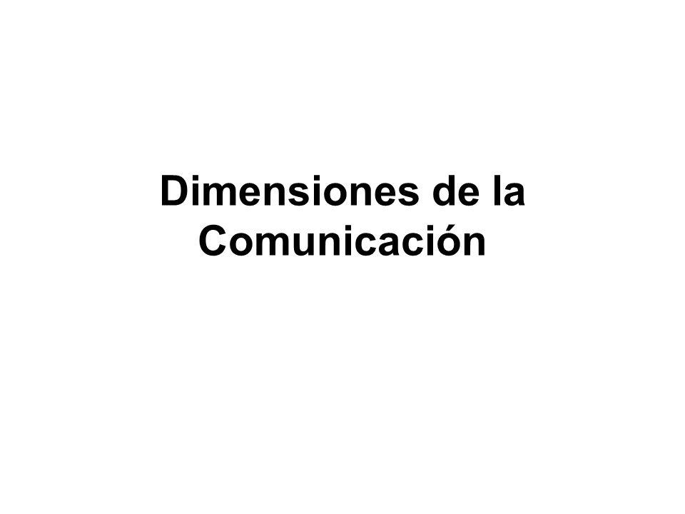 Dimensiones de la Comunicación