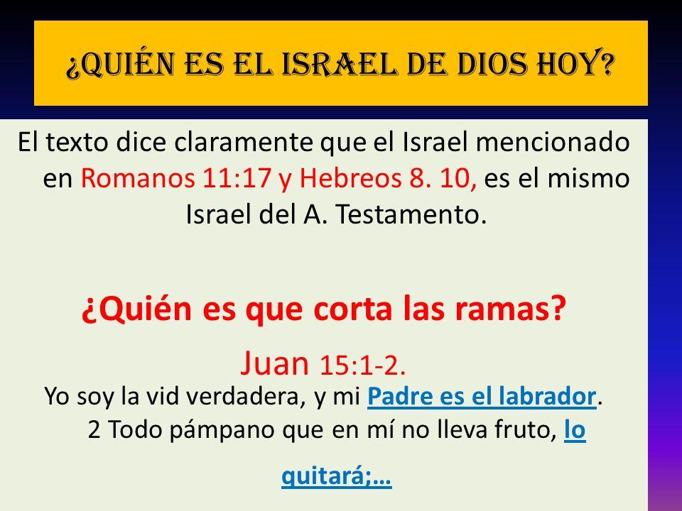 ¿Quién es el Israel de Dios hoy