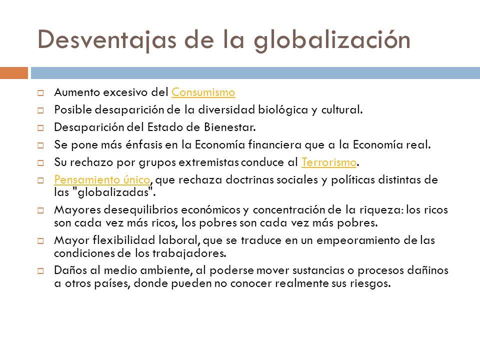 Desventajas de la globalización