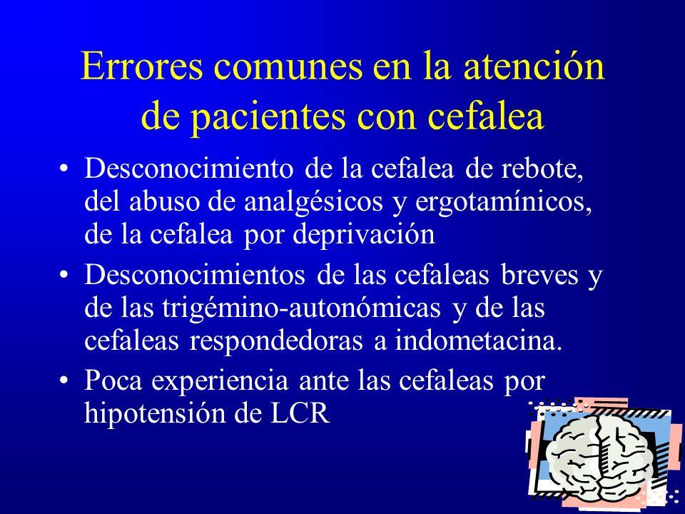 Errores comunes en la atención de pacientes con cefalea