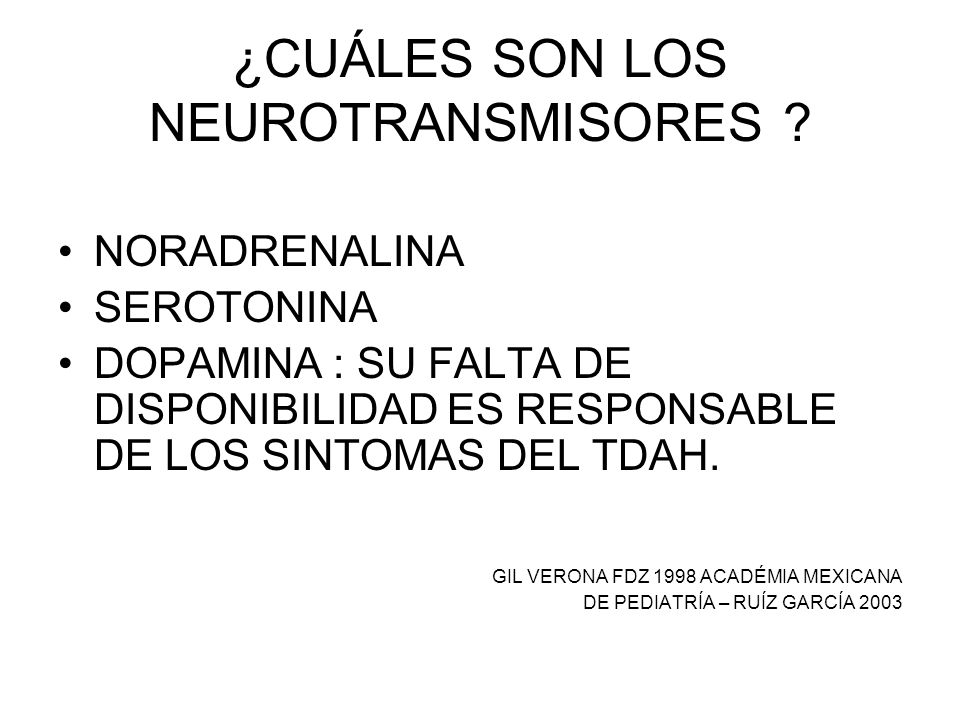 ¿CUÁLES SON LOS NEUROTRANSMISORES