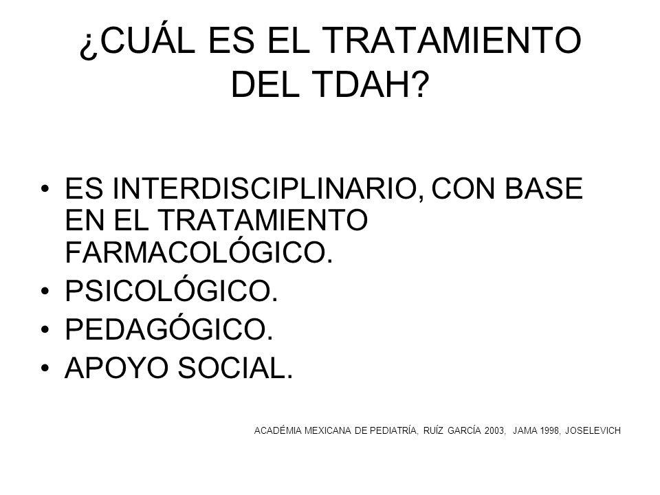 ¿CUÁL ES EL TRATAMIENTO DEL TDAH