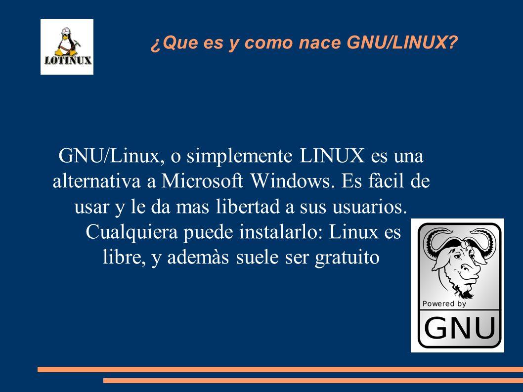 ¿Que es y como nace GNU/LINUX
