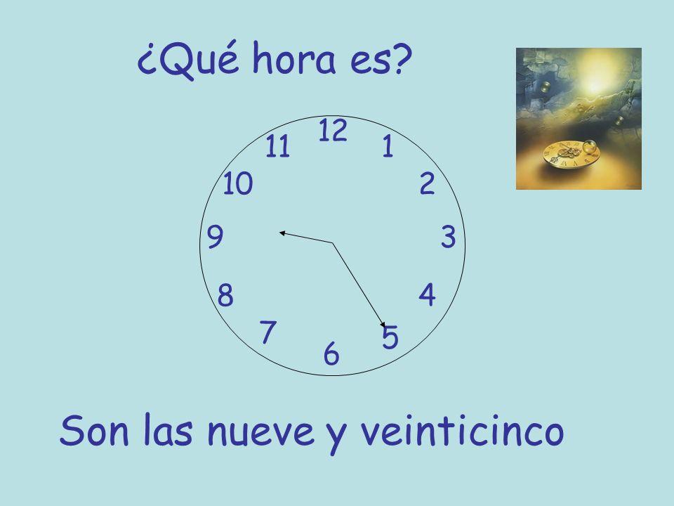 Son las nueve y veinticinco