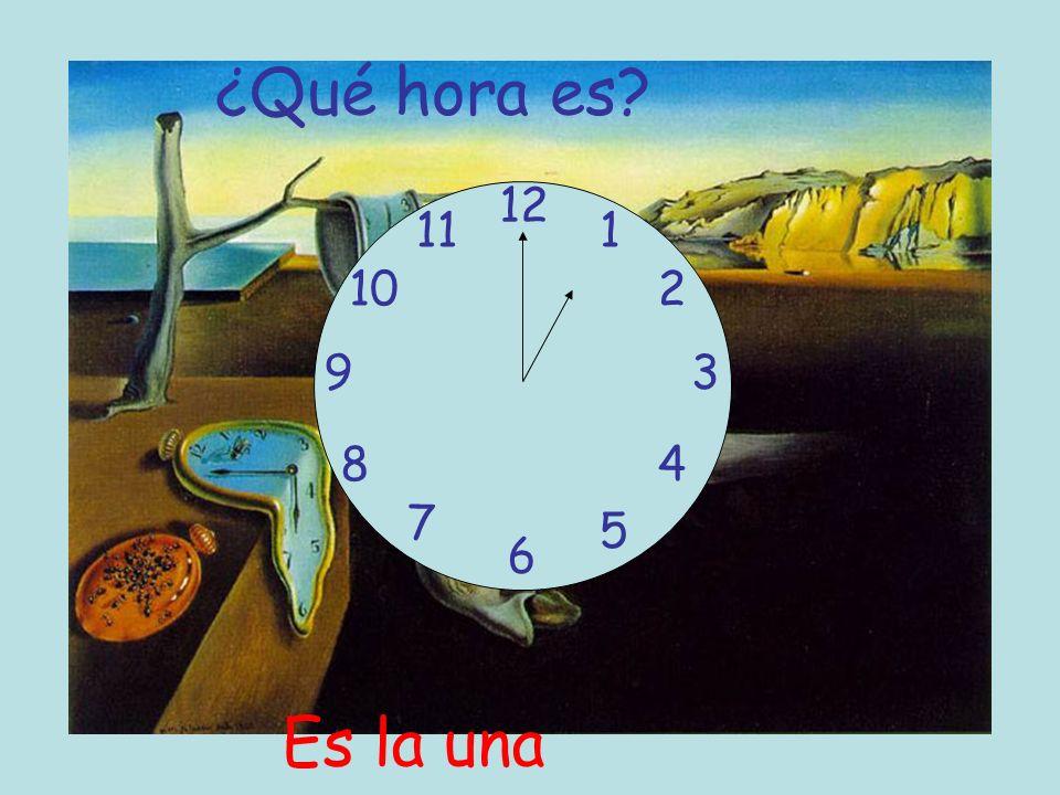 ¿Qué hora es 12 11 1 10 2 9 3 8 4 7 5 6 Es la una