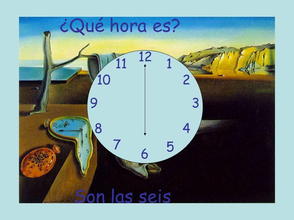 ¿Qué hora es 12 11 1 10 2 9 3 8 4 7 5 6 Son las seis
