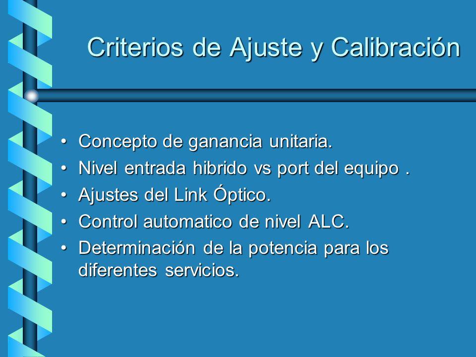 Criterios de Ajuste y Calibración