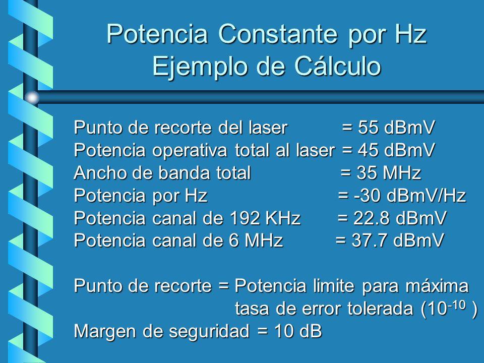 Potencia Constante por Hz Ejemplo de Cálculo