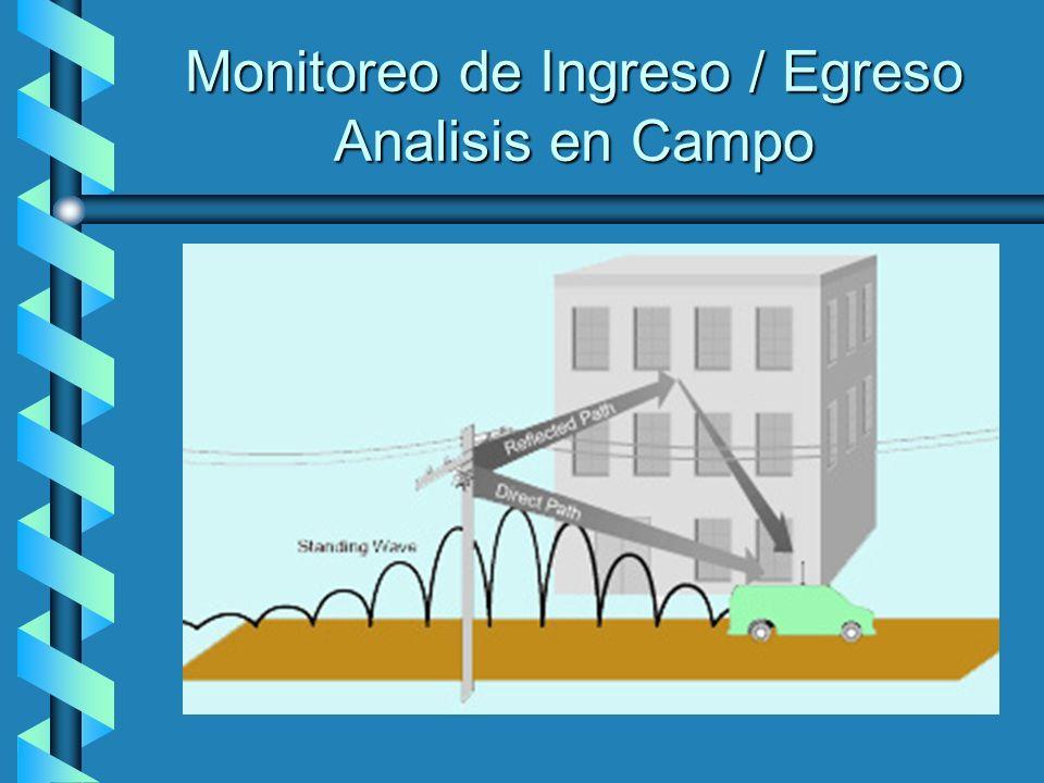 Monitoreo de Ingreso / Egreso Analisis en Campo