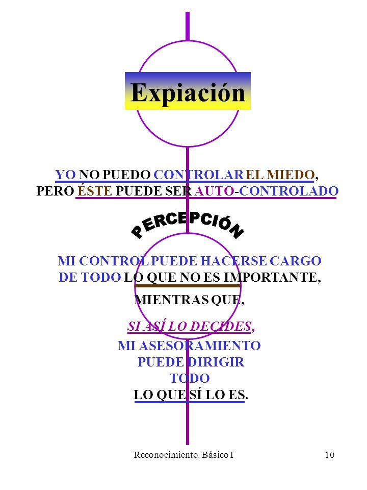 Expiación PERCEPCIÓN YO NO PUEDO CONTROLAR EL MIEDO,